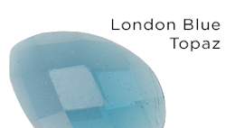 Genuine London Blue Topaz Gemstones